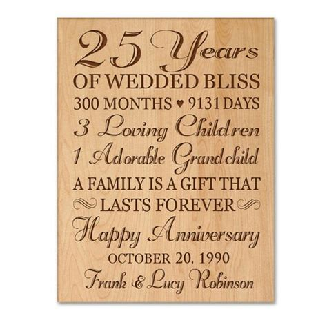 gifts for 25 personalized 25th anniversary gift for him 25th wedding