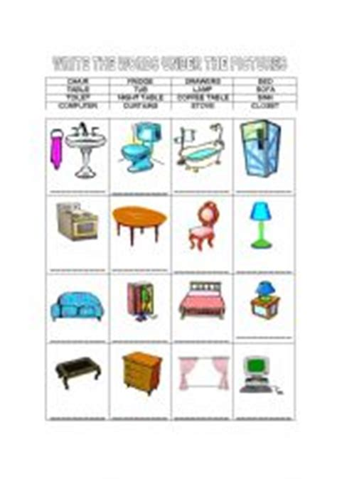 Upholstery Terms Phrases by Teaching Worksheets Furniture