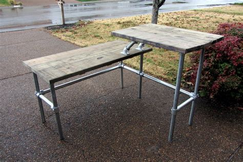 sitting and standing desk split level sitting and standing desk made with pipe