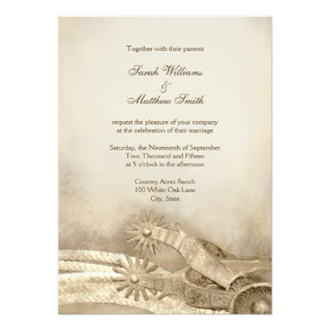 Wedding Invitations Country by Rustic Country Western Wedding Invitations 5 Quot X 7