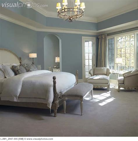 country blue paint colors master bedroom soft blue walls white woodwork style