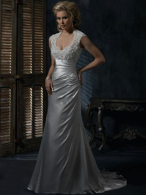 Silver Wedding Dresses Uk by Silver Lace Wedding Dresses Pictures Ideas Guide To
