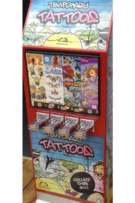 tattoo vending machine vending machines brenland leisure