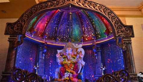 ganpati home decoration ganpati decorations and the decked up pandals ganpati tv