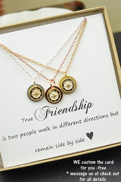 diy best friend necklaces best friend giftrose gold compass by dianadpersonalized on etsy accessories