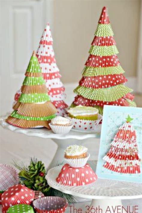 cupcake wrapper christmas trees christmas pinterest