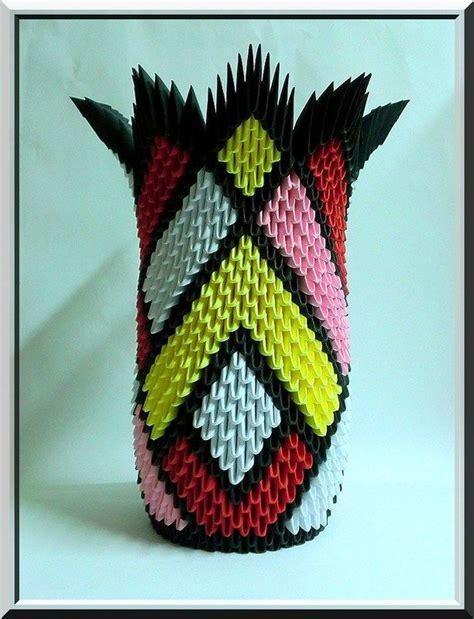 florero origami 3d paso a paso jarron origami pinterest origami origami 3d y
