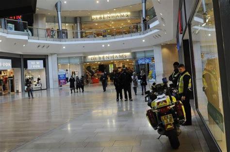 Cq Live Birmingham Debenhams Bullring Centre by Falls From Balcony Of Birmingham Bullring Shopping