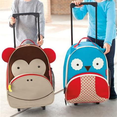 Skip Hop Zoo Luggage Kid Rolling Luggage Monkey skip hop zoo monkey kid rolling luggage bmini design for
