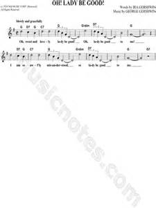 Oh lady be good quot from oh lady be good sheet music leadsheet in