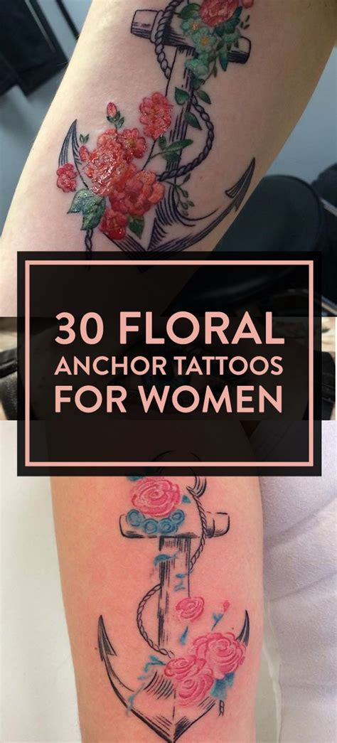 anchor tattoo designs for girls 30 floral anchor tattoos for designs for