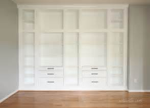 Ikea Hack Built In Bookshelves Hemnes Custom Built In Storage Unit Ikea Hackers Ikea