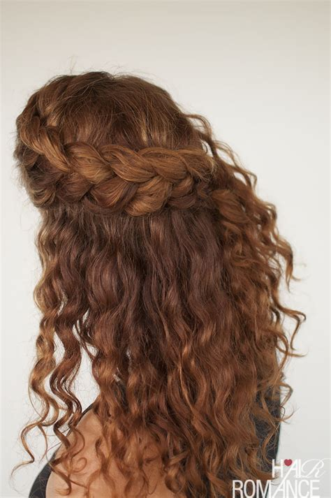 hairstyles braided with curls curly hair tutorial the half up braid hairstyle hair