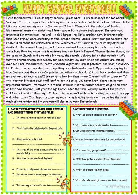 Reading Comprehension Worksheets For Advanced Esl Students by Reading Comprehension Activities Intermediate Esl