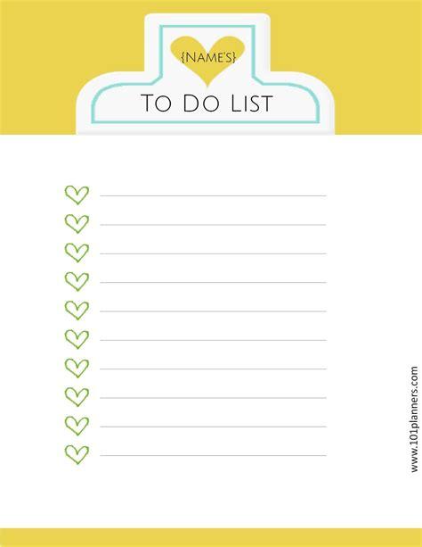 to do list printable to do list