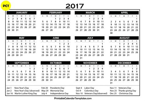 printable calendar pages 2017 calendar 2017 printable calendar templates