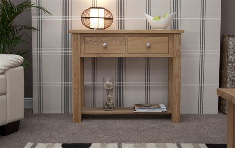 Small Table For Hallway Kingston Solid Oak Hallway Furniture Small Console Table Ebay