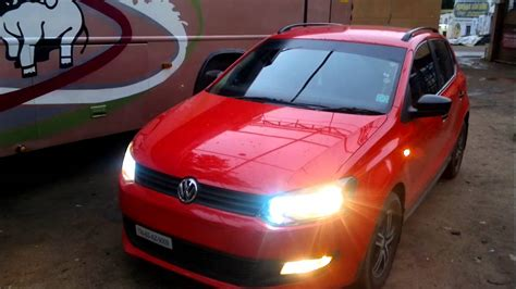 volkswagen polo headlights modified vw polo modified car hid light