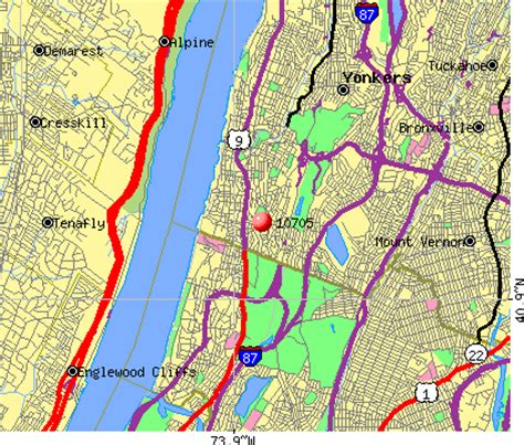zip code map yonkers ny new york map yonkers