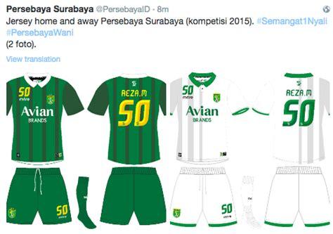 desain jersey tim isl 2015 ini jersey sebenarnya persebaya surabaya untuk isl 2015