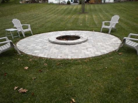 wi landscape fire pit lake geneva outdoor pit installation lake country patio construction brookfield