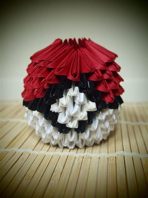 How To Make A Origami Pokeball - pokeball 3d origami by virepixie148 on deviantart