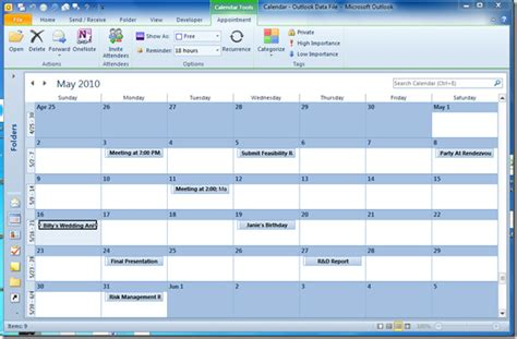 Visio Calendar Template enrich imported outlook calendar in visio 2010
