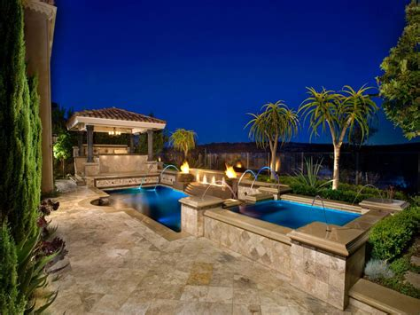 backyard vacations in ground vs above ground pools hgtv