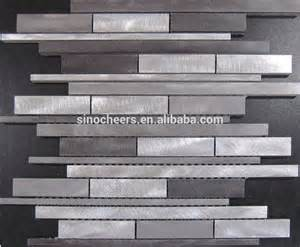 random silver brushed aluminum metal backsplash