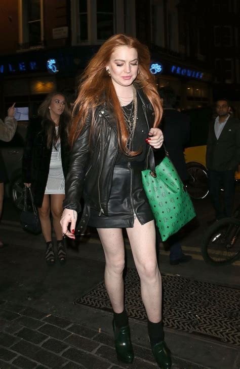 Lindsay Lohan Leaves Hospital Goes To Club by Lindsay Lohan Leaves The Firehouse Club In Hawtcelebs