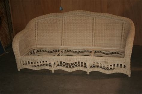 ethan allen wicker furniture chair sofa chaise lounge