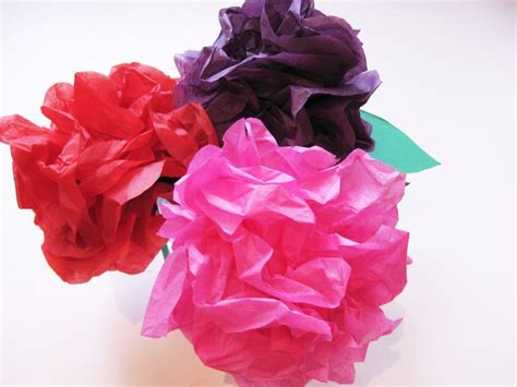 Craft Tissue Paper Flowers - simple steps to make beautiful tissue paper flowers with