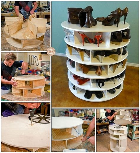 this diy lazy susan shoe rack is simply superior for shoe