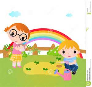 Displaying 19 gt images for kids garden clipart
