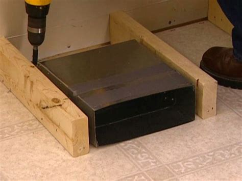 vent extender under bed redirecting a floor vent for a banquette use this method