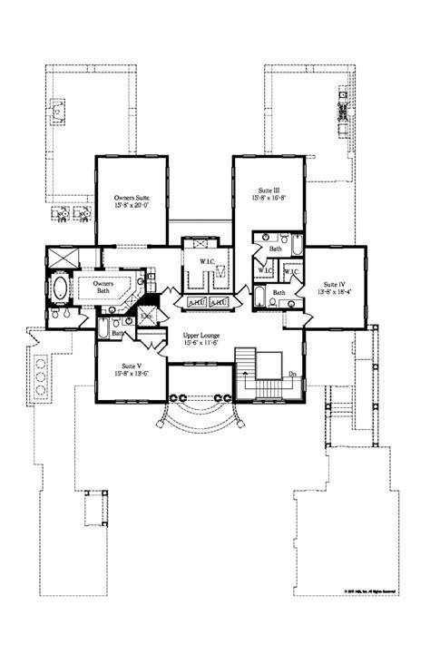 italian floor plans second floor plan of italian house plan 64727 home plans