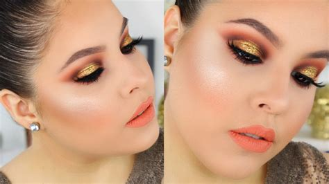 tutorial makeup natural peach kylie jenner royal peach palette makeup tutorial review
