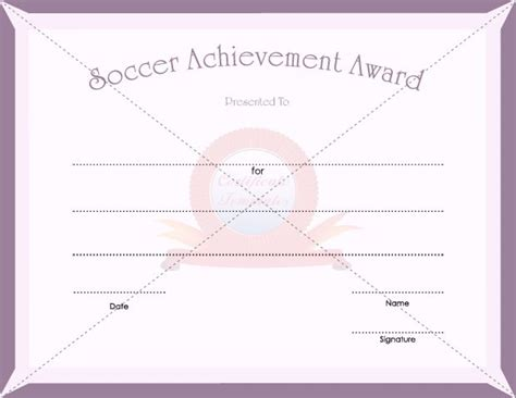 soccer award certificate template 7 best sports certificate templates images on