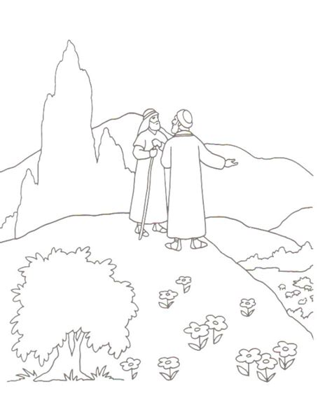 coloring page abraham and lot abraham and lot coloring pages abraham and lot