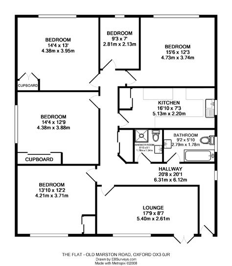 four bedroom flat floor plan old marston road marston ox3 ref 25001 oxford