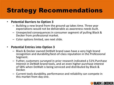 Strategy Mba Used For What by Black Decker 1990 Strategy Mba
