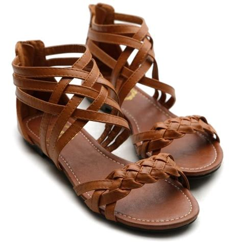 multi color flat shoes ollio womens flats sandals gladiator strappy zip closure