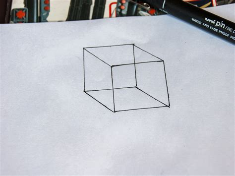 How To Draw A 3d Box how to draw a 3d box 14 steps with pictures wikihow