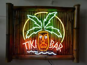 Tiki Bar Bamboo Tiki Bar Neon Signs With Parrots And Palm Trees 1
