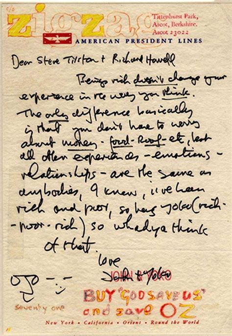 The Lennon Letters being rich doesn t change your experiences in the way you