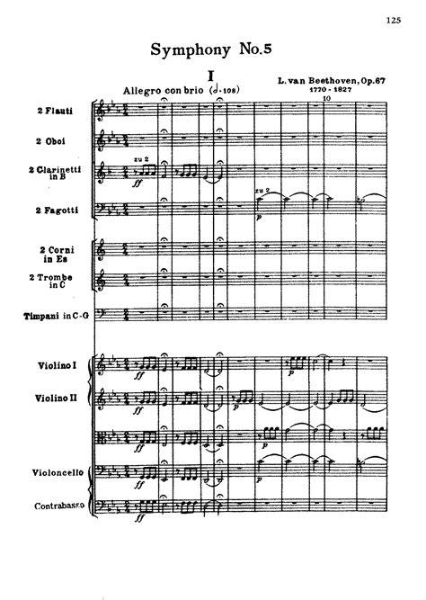 symphony no 5 op 67 beethoven ludwig imslp