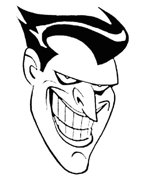 joker face coloring pages free batman and joker coloring pages