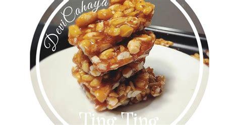 resep ting ting kacang enak  sederhana cookpad