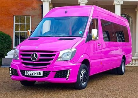 pink mercedes png pink mercedes 16 passenger surrey limos