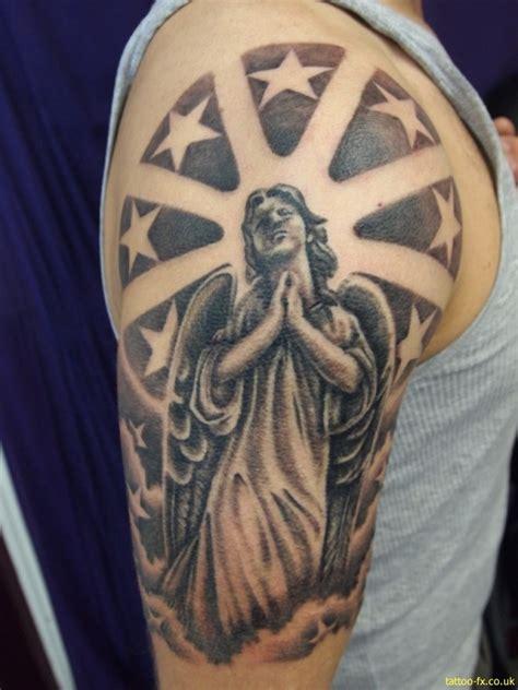 angel themed tattoo 26 praying angel tattoos on half sleeve